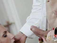 Brunette pornstar hardcore and cumshot