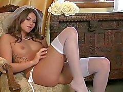 A bride is masturbating