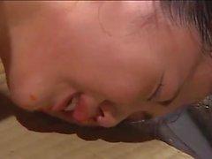 Flogging a Japanese OL on a
