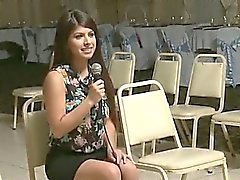 Freshman girls participate on sororitys annual pledge interview