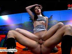 Little teen Khadisha Latina the ultimate swallower