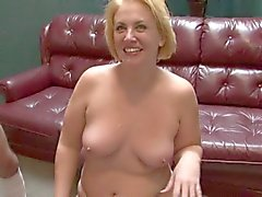 Blonde BBW-Milf in Interracial-Gangbang