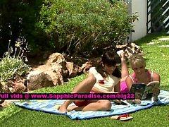 Avidat and Geena lovely lesbo girls teasing