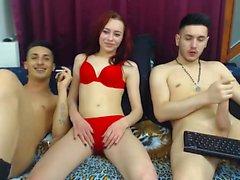 Amatör gençler webcam üçlü