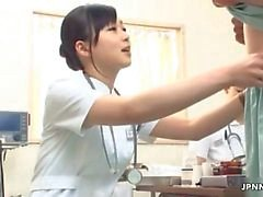 Sexy nurse rubs a cock by JPNNurse