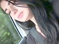 Hitch hiked teen amateur teen jerks driver