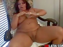 Chubby Latin Mommy Masturbating