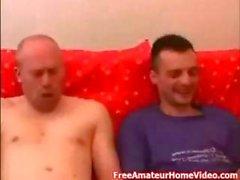 Blonde Serbian amateur bitch gets destroyed by three hard dicks