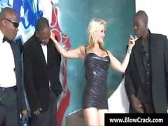 Interracial BlowBang - Facial cumshot in interracial hardcore fuck 24