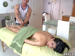 Spanish Porn diva Rebeca Linares enjoys massage
