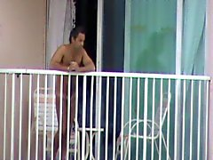 Hotel neighbour balcony guy