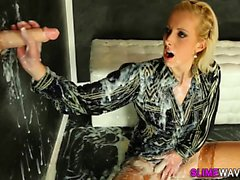Classy ho drenched in cum
