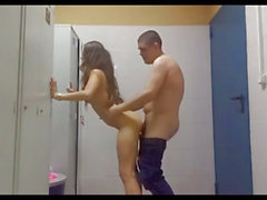 Schoolgirl Fucks In The Boys Lockerroom