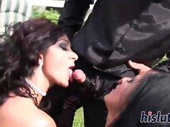 Hot dames pleasure boners at a party