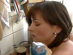 Ocurrencia cogida la cocina