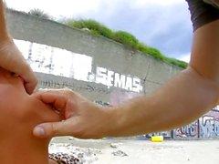 Baby Reed the tattooed punk latina fucks hard by the beach