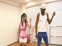 Japanese student caught in the locker room gets a black dic