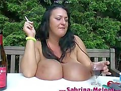 huge tits smoking