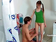 Cute teen babe gets horny part4