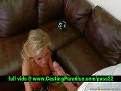 Mckenzee Milesstunning blonde gagging huge cock