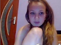 Little teen cutie bating infront of a webcam