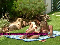 Avidat and Geena lovely lesbo girls teasing