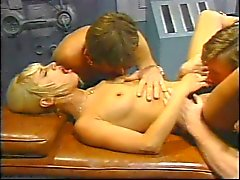 Vintage threesome and double penetration