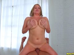 Check out these massive tits bounce as this blonde gets