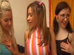 Lesbians Schoolgirl Party