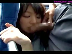 Schoolgirl Rapped Getting Her Mouth Fucked Sucking Guy Facial On The Bus