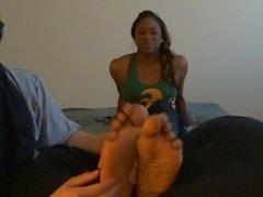 Intoxicating Athlete Ebony Feet