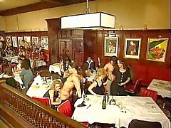 An restaurant orgy in public