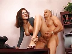 Secretary pounded on desk hard