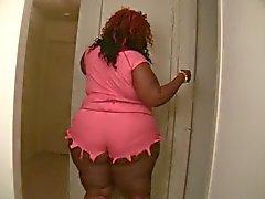 Chucky BBW Ebony Shaking her Fat ass in Shorts