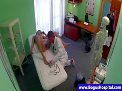 Real patient fucked by doctors magic rod