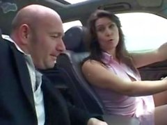 French sex in car Baise auto ecole