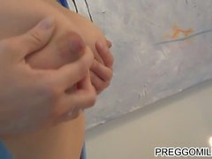 squirting brestmilk on the candles full video on preggomilky