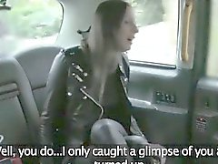 Horny housewife fucked by fraud driver in the backseat