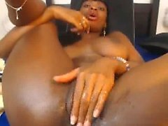 Ebony Girl Showering And Pussy on Cam