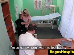 European amateur sucking doctor before sex
