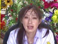 Nishio Kaori & Anzu Yuu in giapponese notizie bukkake tv