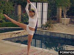 PORNFIDELIT - Flexible Yoga Freak Arya Faye Loves Cock