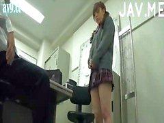 Horny teacher spanks his pupil