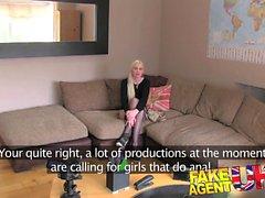 FakeAgentUK Gorgeous amateur blonde loses anal cherry