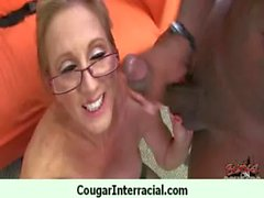 Cougar gets black monster cock for her pleasure 23