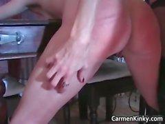 Kinky Carmen gets this hot blonde MILF part2