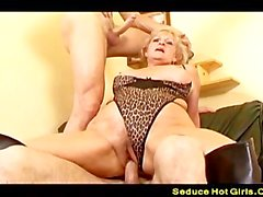 Katalin Enjoy A Threesome With A Young Guys