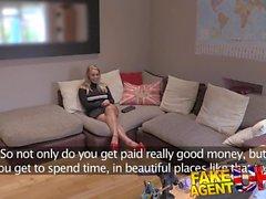 FakeAgentUK British blonde Minx deepthroats