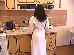 Porn couple fucking in the kitchen