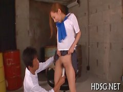 Asian legal age teenager nipples pinched and caressed